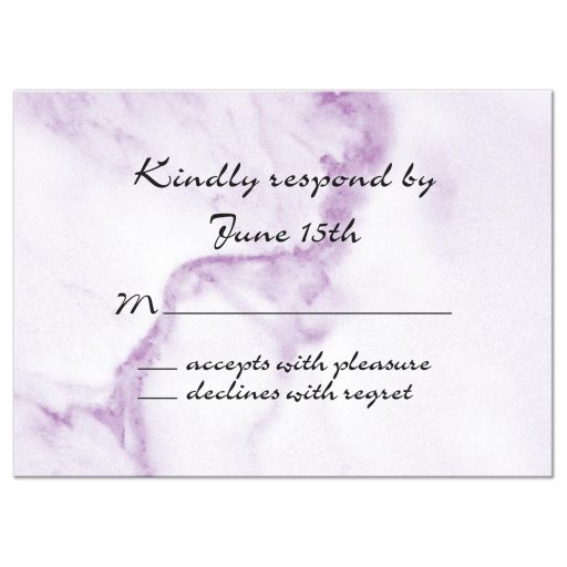 Violet Marble Response Cards