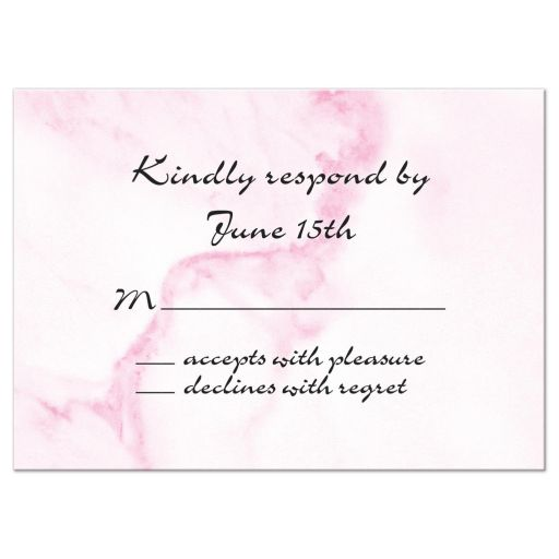 Pink Marble Wedding RSVP