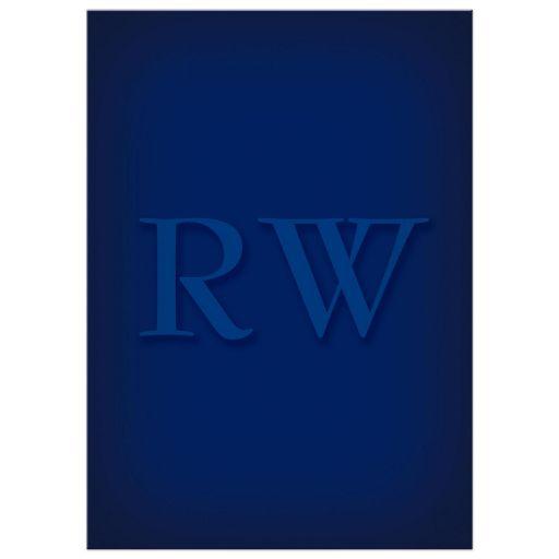 Classic Monogrammed Blue Retirement Party Invitation