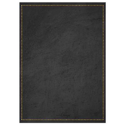 Chalkboard background with gold trims