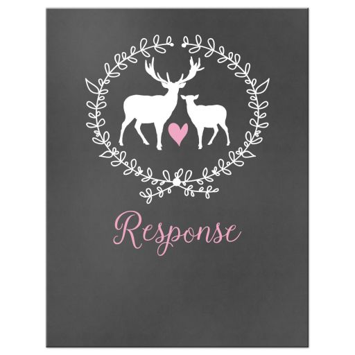 Deer Chalkboard Wedding Response RSVP Enclosure Cards