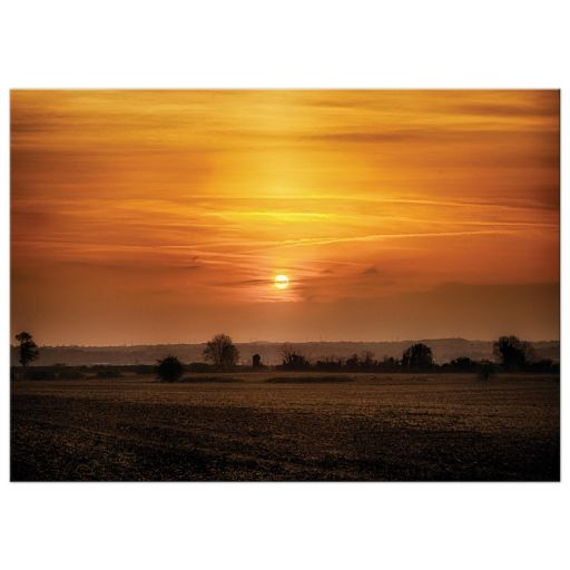 Orange Rural Sunset Art print