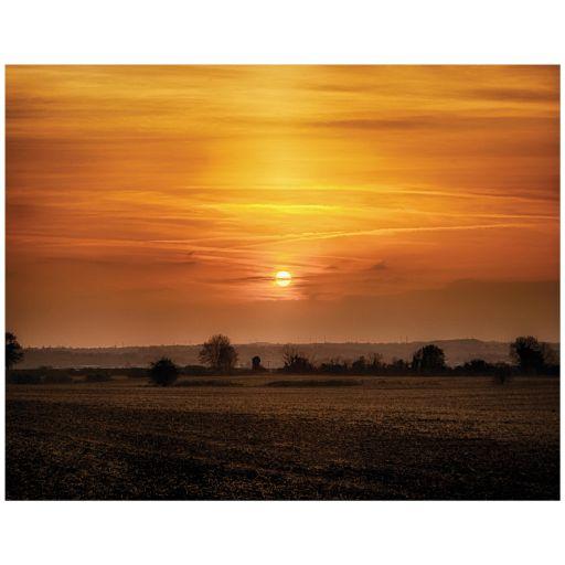 Orange Rural Sunset Art print
