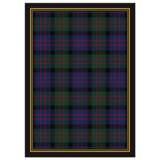 Scottish MacDonald tartan 80th birthday invitation back