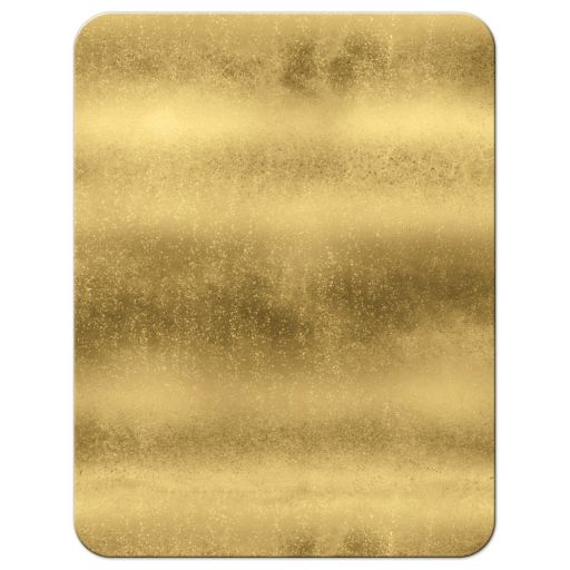 Black, white and gold foil and gold glitter striped wedding RSVP enclosure card insert with ornate scroll.
