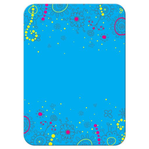 Neon colors glow in the dark style glow party Bat Mitzvah reception card card with doodles back