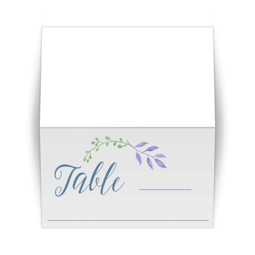 Watercolor Leaves Scripted Place Card