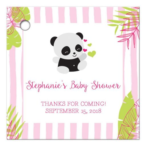 Panda Baby Shower Thank You Favor Gift Tags