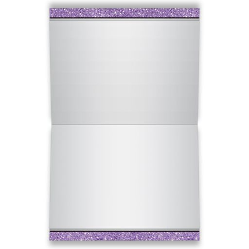 Black, silver grey, and purple Bat Mitzvah thank you cards with purple ribbon, bow, jewels, glitter, and Jewish Star of David on it.