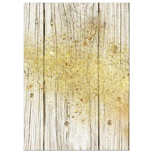 Gold Dust Rustic Invitation