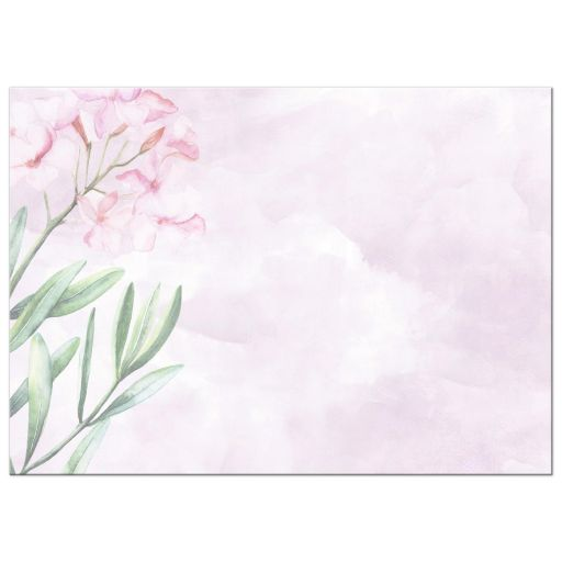 Pink Watercolor flowers Bat Mitzvah Invitation