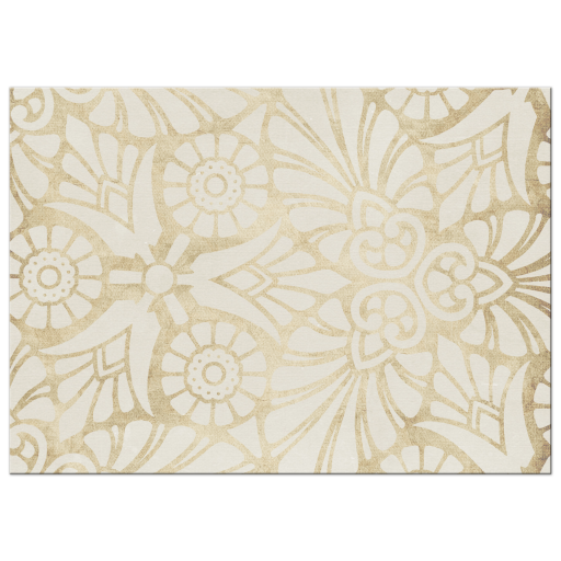 Bold Gold Floral Save the Date Card Photo template (side b)