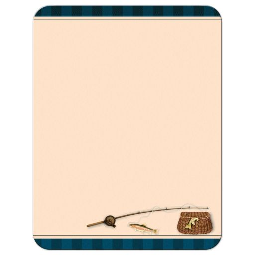 Camping, fishing, tenting, campground Bar Mitzvah or Bat Mitzvah thank you note card with tent, cooler, lantern, raccoon, tree, fishing rod, fish, tackle box and Star of David.