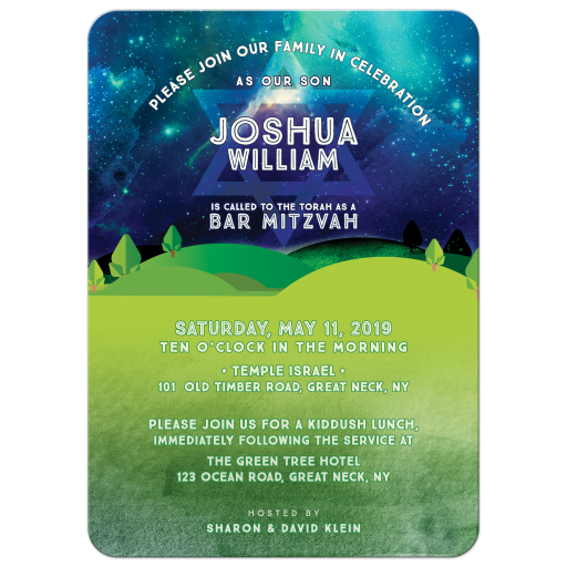 The Great Outdoors Bar Mitzvah Invitation
