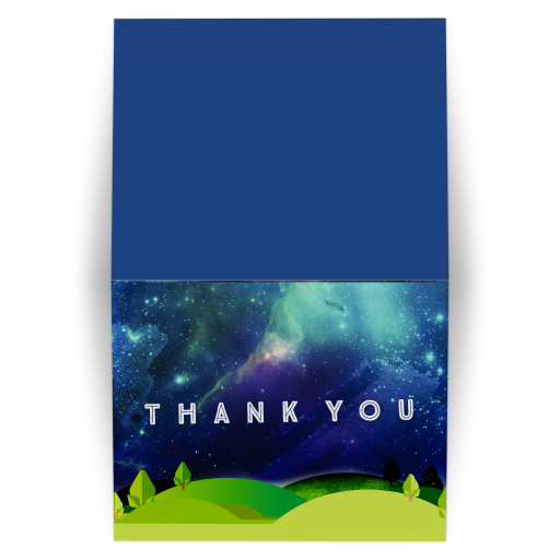Great Outdoors Blue Green Thank You Card