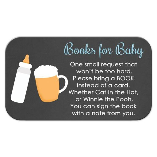 Baby-Q Books for Baby Enclosure Cards / Boy Baby Shower