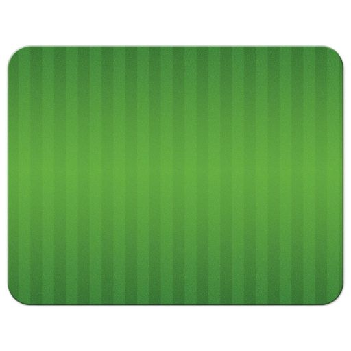 Green and white American football field Bar Mitzvah RSVP card back