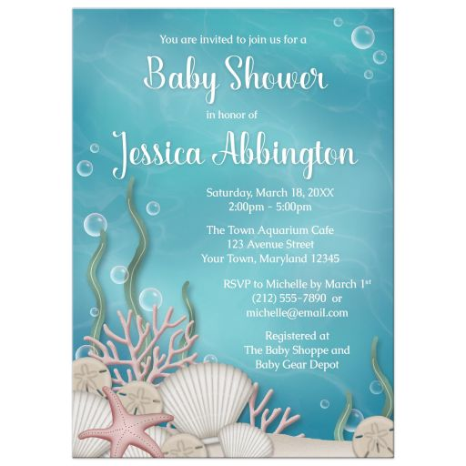 Baby Shower Invitations - Whimsical Under the Sea