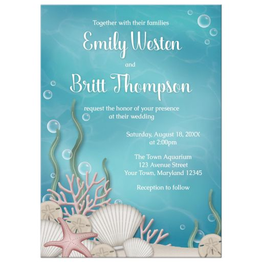 Wedding Invitations - Whimsical Under the Sea