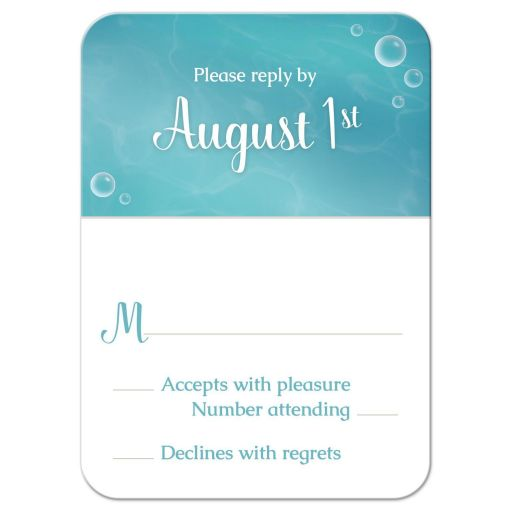 RSVP Reply Cards - Whimsical Under the Sea