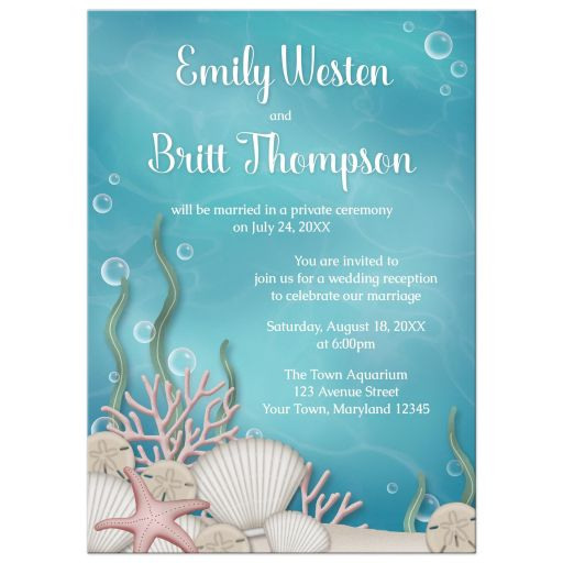 Reception Only Invitations - Whimsical Under the Sea
