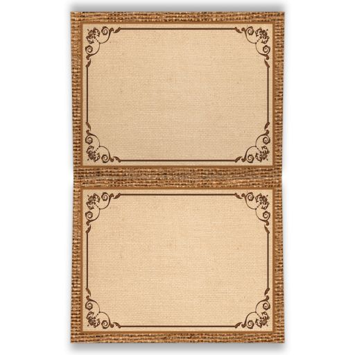 Rustic burlap and wood sunflower fall in love wedding thank you cards with a cobalt or royal blue ribbon, a twine bow, and a wood heart on it.