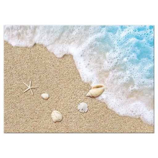 beach sand and ocean waves RSVP