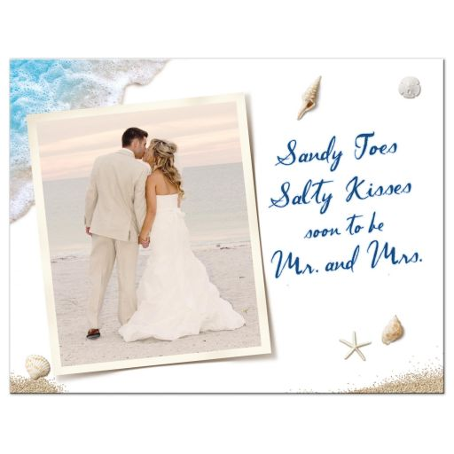 Ocean Waves and Beach Sand Photo Save the Date Postcard