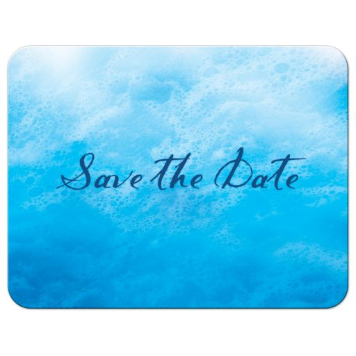 Ocean Waves and Beach Sand Save the Date Postcard