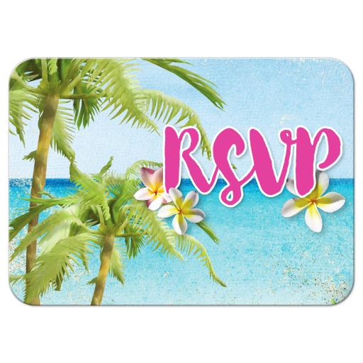 Beach Themed RSVP - Beach Bat Mitzvah RSVP Cards