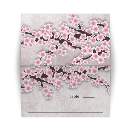 Place Cards - Rustic Pink Cherry Blossom