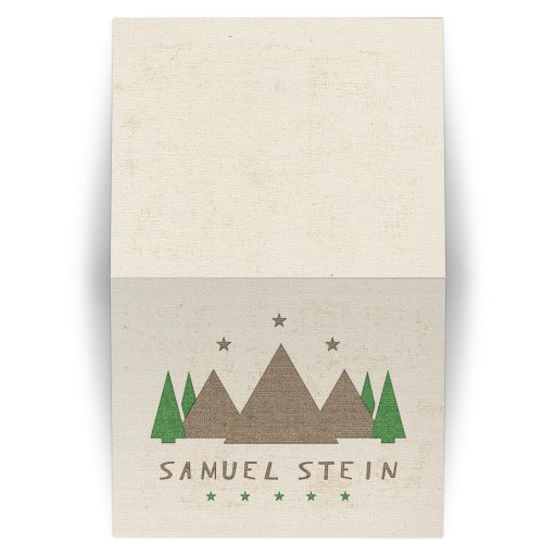 Camping Bar Mitzvah Folded Thank You Card Camp Tent Canvas Style