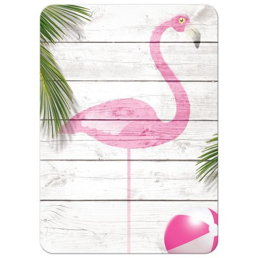 Pink Beach Flamingo Bat Mitzvah Invitations