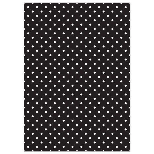 Chic black, white, turquoise polka dot Bat Mitzvah invitation back