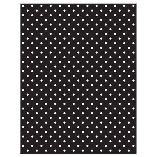 Chic black, white, turquoise polka dot Bat Mitzvah RSVP card back