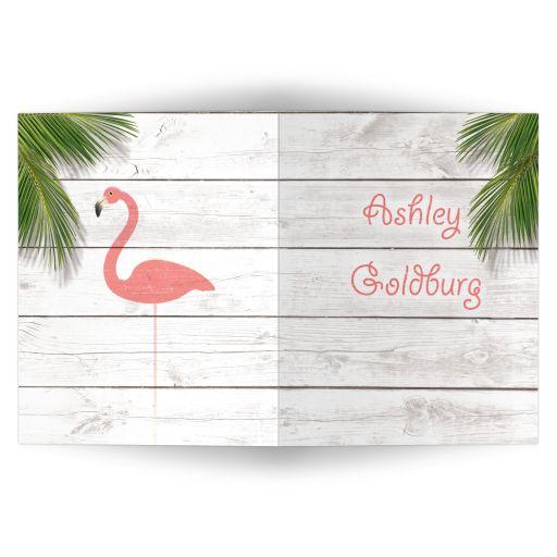 Coral Flamingo Thank You Card