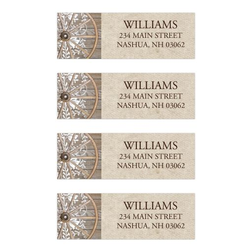 Country Wheel Western Theme Address Labels