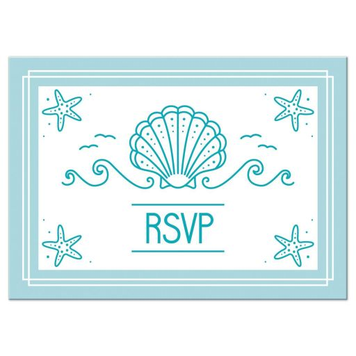 Simple Modern Beach Bat Mitzvah RSVP Card