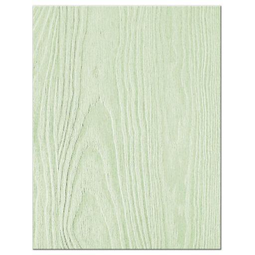 Rustic mint green wood (woodgrain) baby's breath wedding RSVP card back