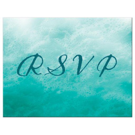 Lesbian Turquoise Ocean Waves RSVP Postcard