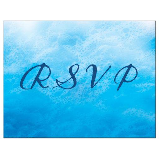 Lesbian Blue Ocean Waves RSVP Postcard