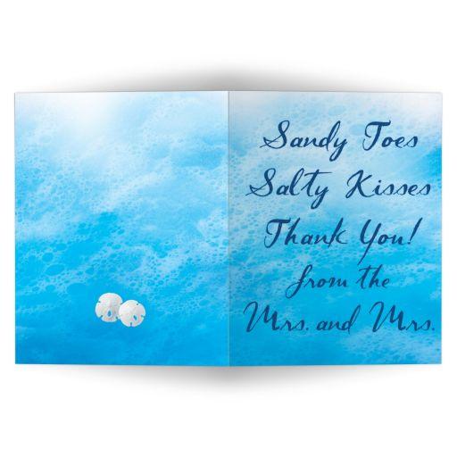 Lesbian Blue Ocean Waves Thank You Card