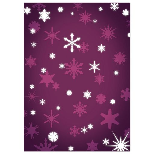 Purple Winter Wedding Invitation with Snowflakes