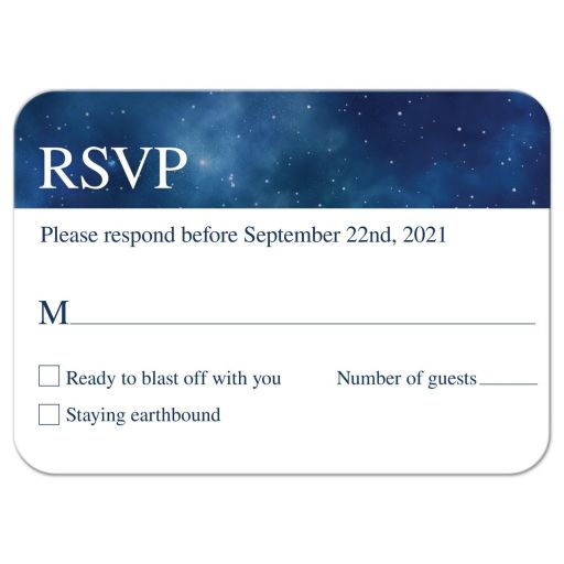 Constellation Outer Space Bar Mitzvah RSVP
