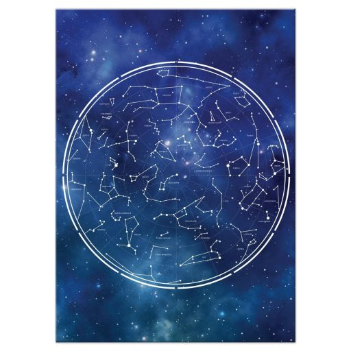 Constellation Outer Space Bar Bat Mitzvah Reception Card