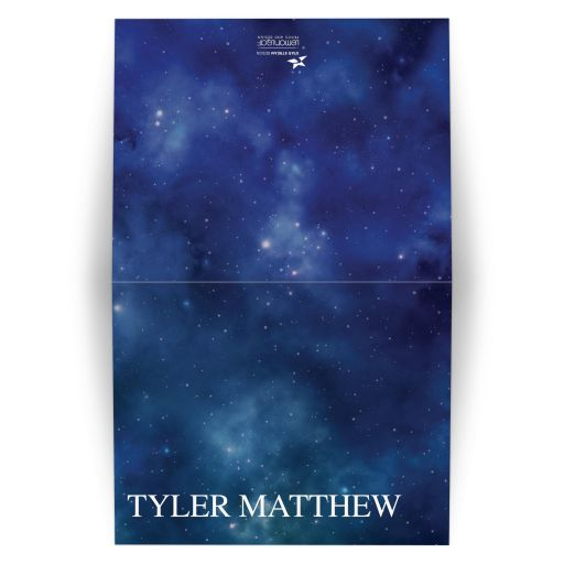Constellation Outer Space Bar Bat Mitzvah Thank You Card