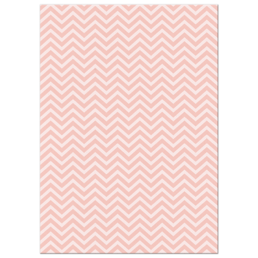 Pink Chevron Bridal Shower Invitation