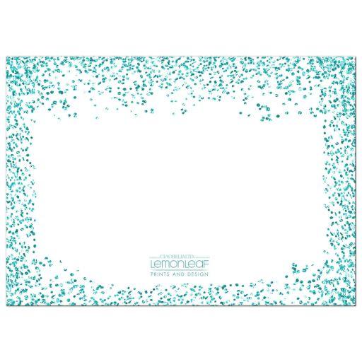 teal glitter confetti