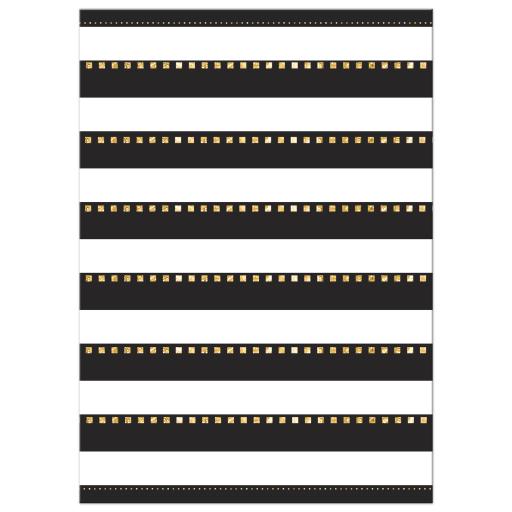 Gold Black and White Stripes