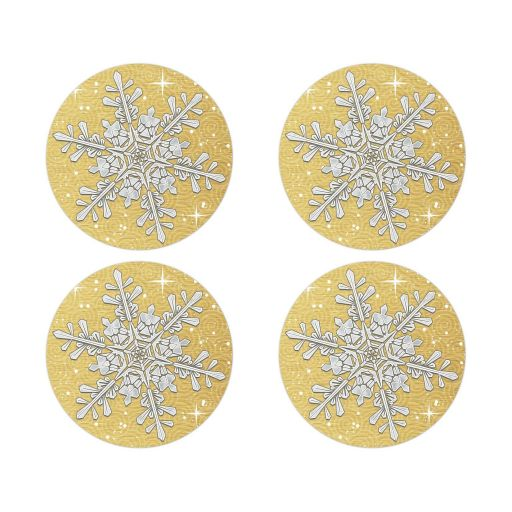 Gold and silver snowflake winter wedding envelope seals